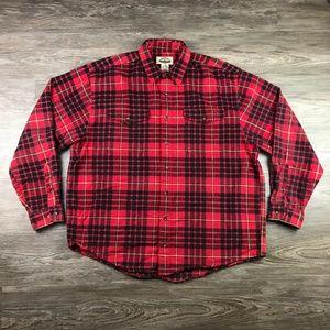 Eddie Bauer Legends Men Size XL Flannel Shirt